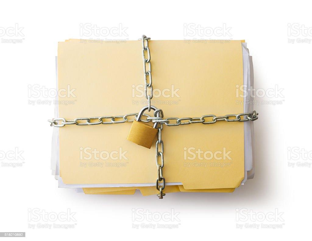 Confidential documents stock photo