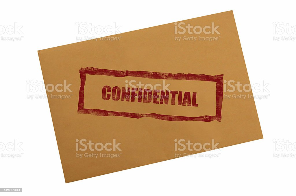 Confidential envelope royalty-free stock photo
