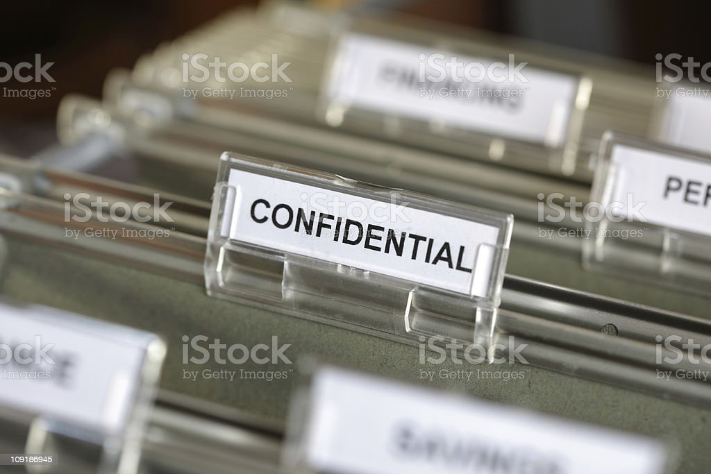 Confidential file stock photo