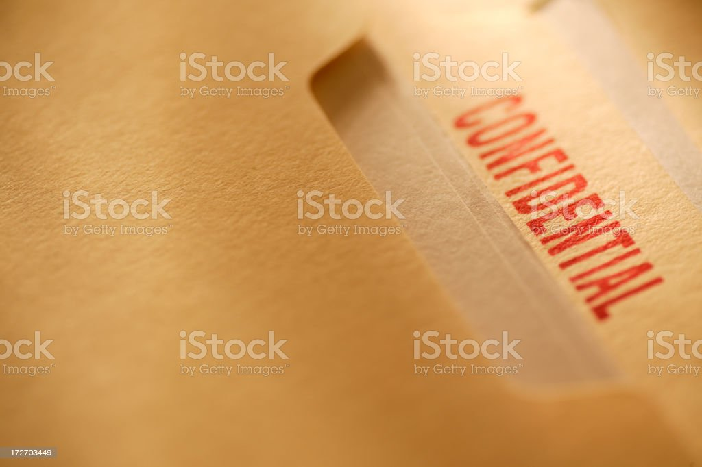Confidential File royalty-free stock photo