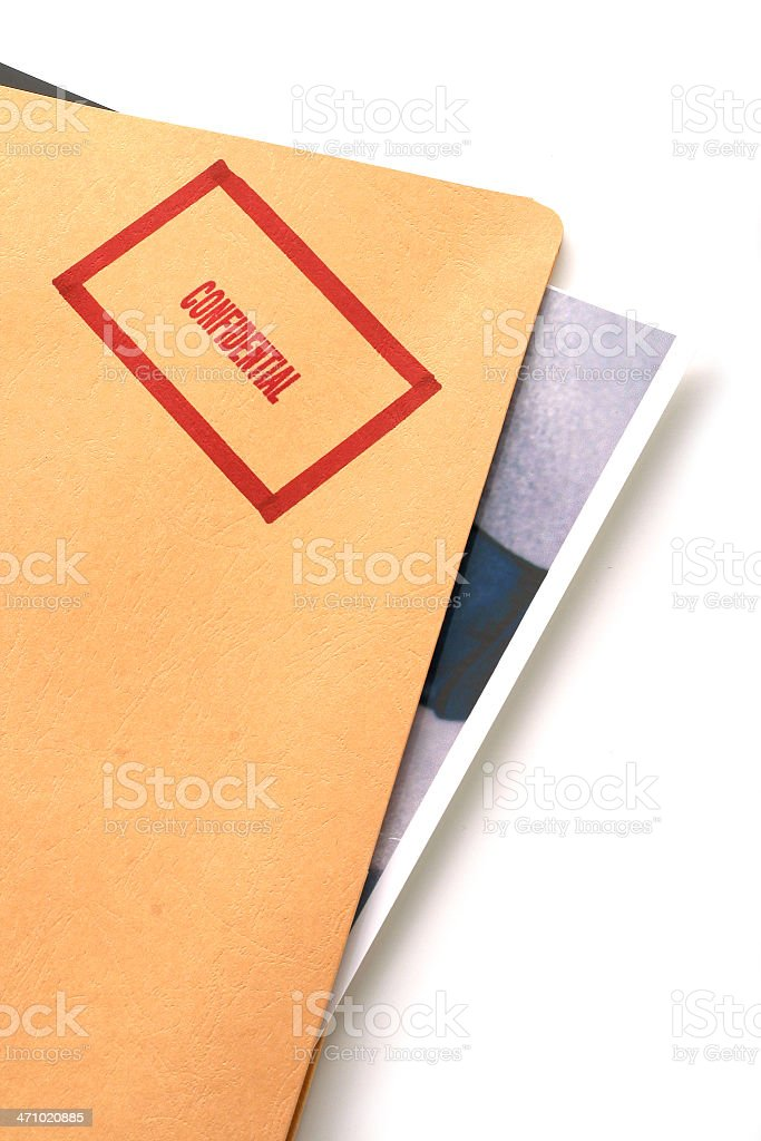 Confidential Folder royalty-free stock photo