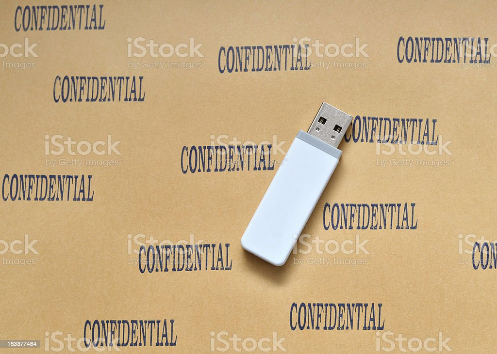 Confidential Information royalty-free stock photo