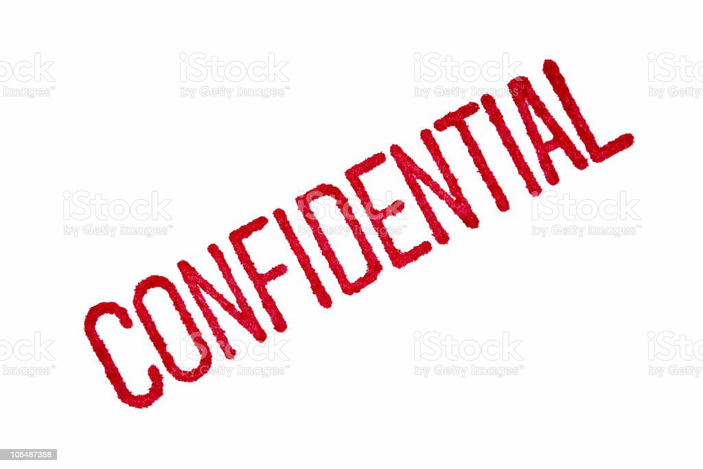 Confidential  Business Stock Photo