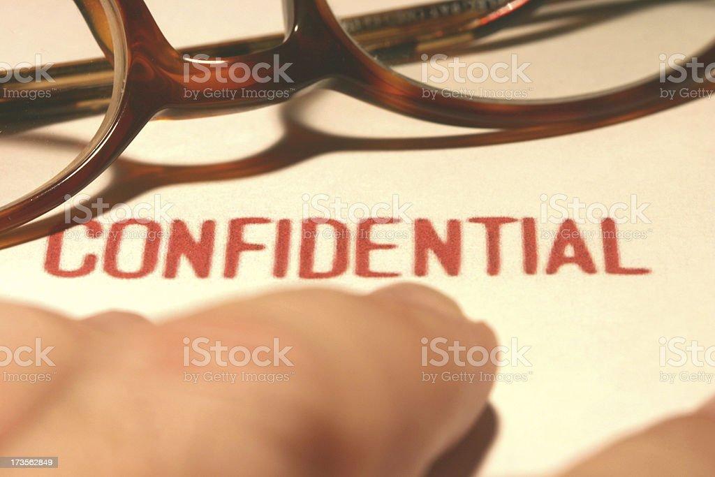 Confidential stock photo