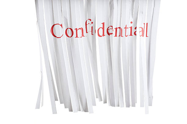 confidential - shredded paper stock photos and pictures