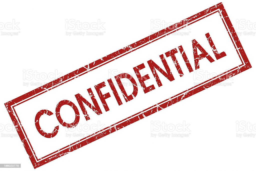 confidential red stamp stock photo