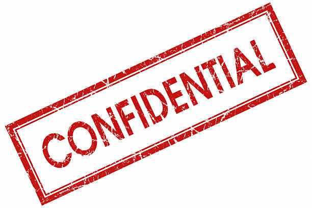confidential red stamp - watermark stock photos and pictures
