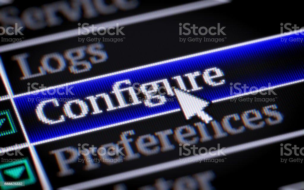 Configure stock photo