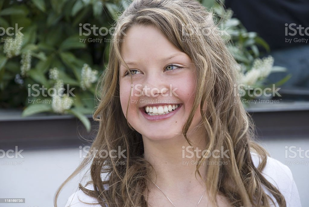 Confirmation day smile royalty-free stock photo