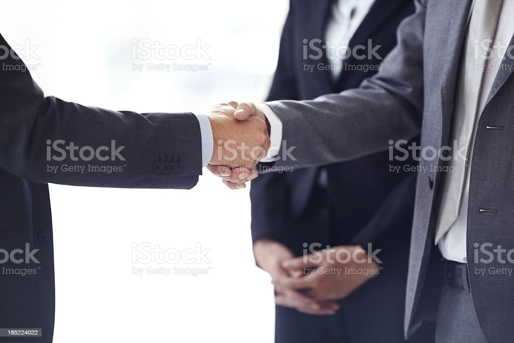 Confirmation of a confident contract royalty-free stock photo