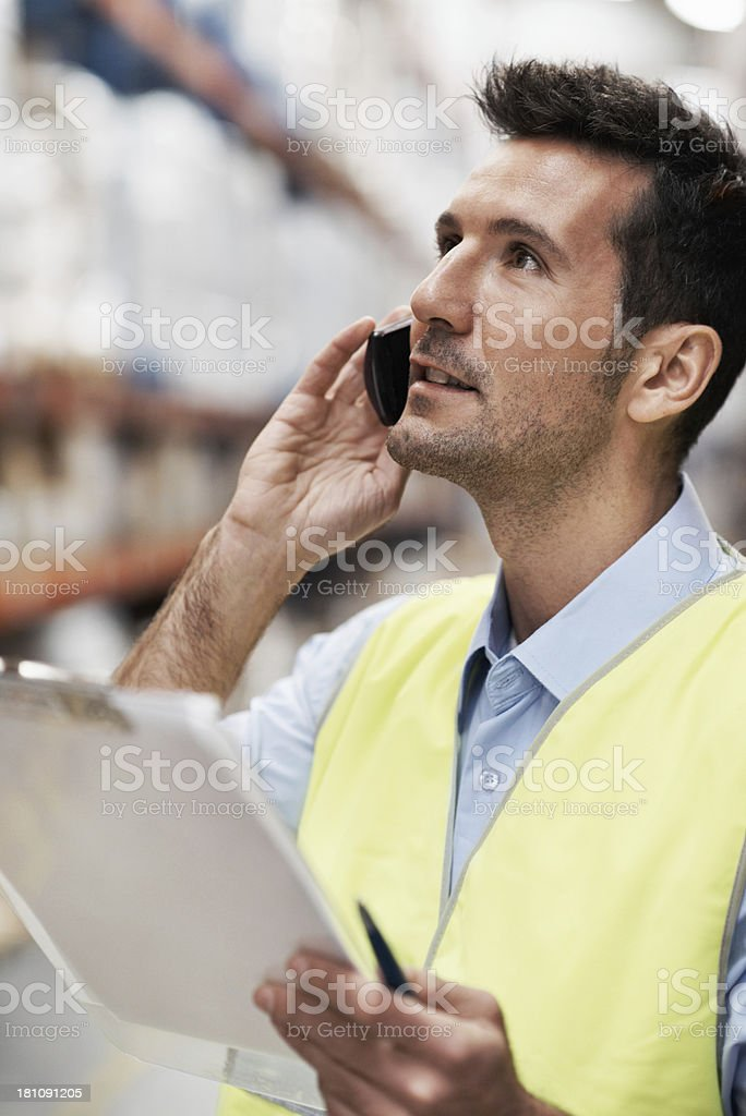 Confirming delivery royalty-free stock photo