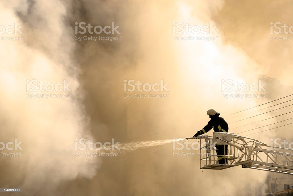 Conflagration stock photo