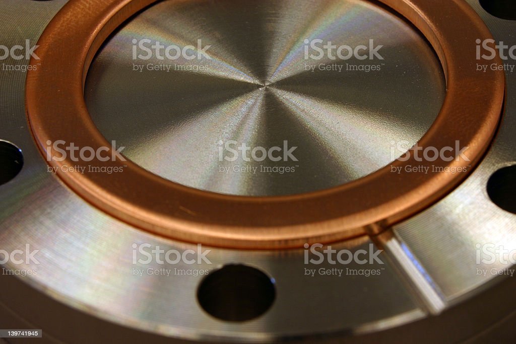 Conflat Flange with copper o-ring royalty-free stock photo
