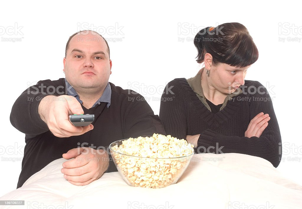 conflict about the tv program stock photo