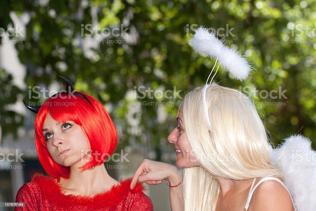 Conflict Between Angel And Devil, Italypse 2010 stock photo