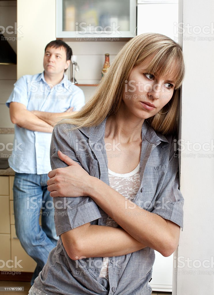 Conflict between man and woman royalty-free stock photo