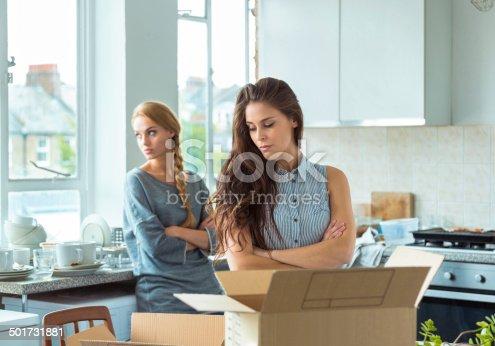 istock Conflict between roommates 501731881