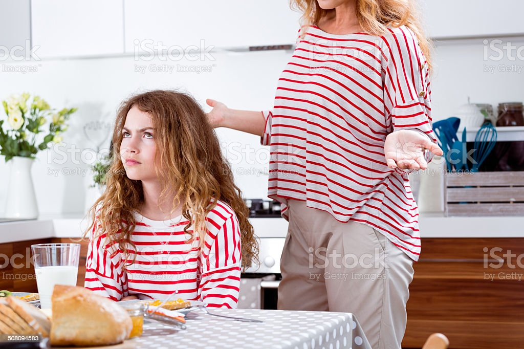Conflict in a family stock photo