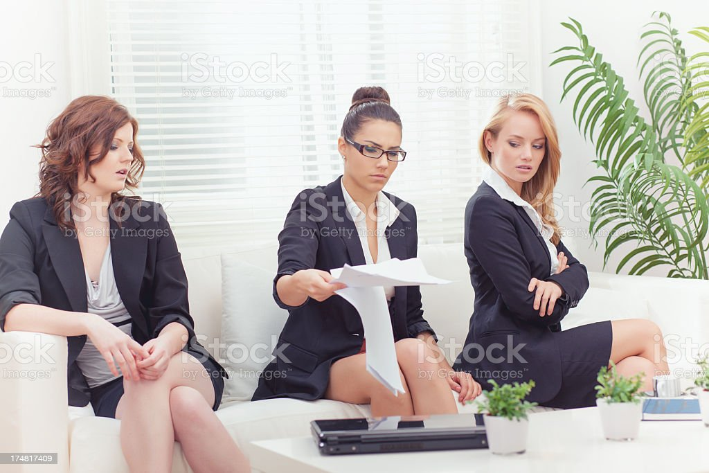 Conflict in office royalty-free stock photo