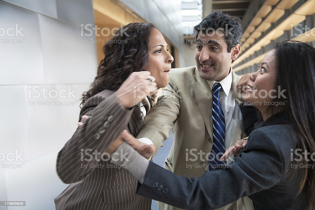 conflict in the office royalty-free stock photo