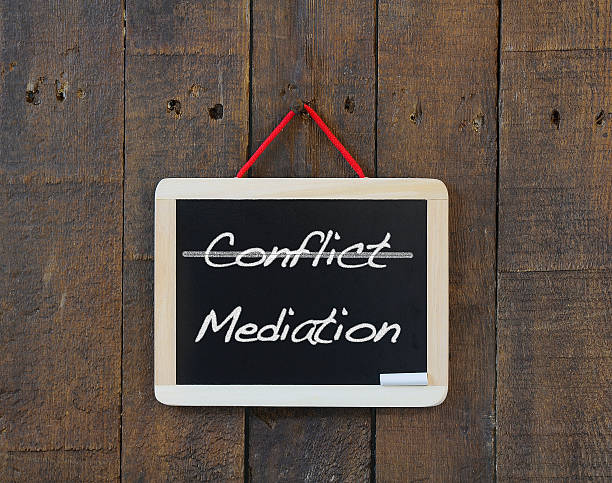 Conflict, mediation. stock photo