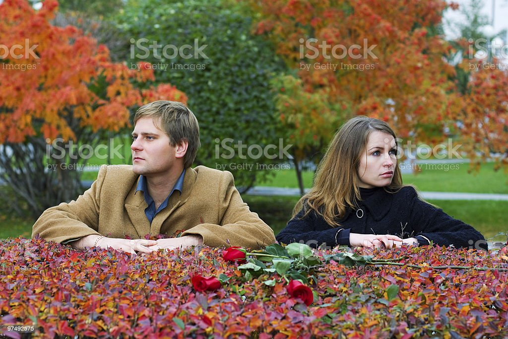 Conflict on the date royalty-free stock photo