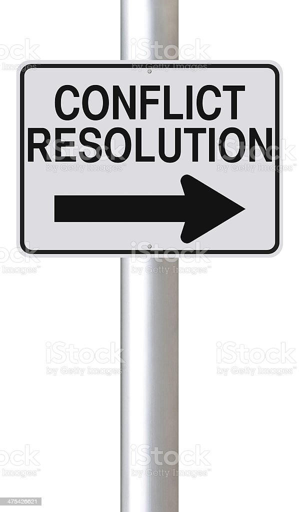 Conflict Resolution royalty-free stock photo
