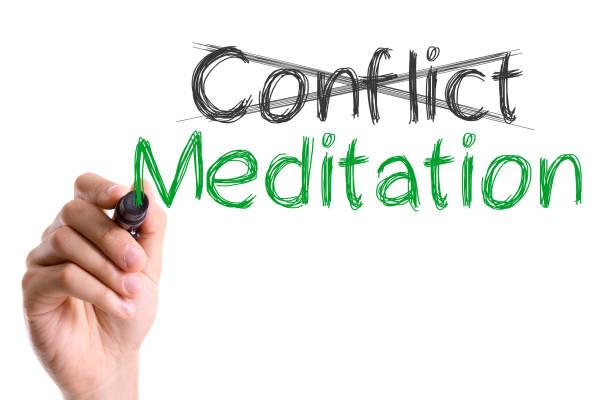 Conflicto x mediación - foto de stock