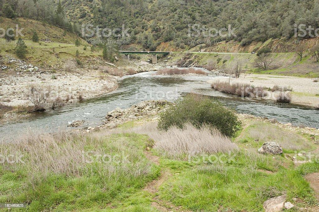 Confluência de American River foto royalty-free