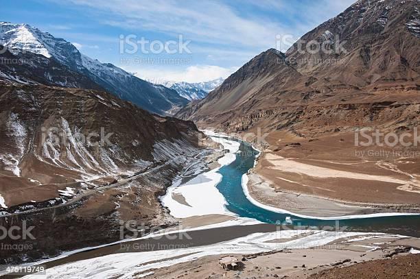 Photo of Confluence of Zanskar and Indus river, Leh, Ladakh, India