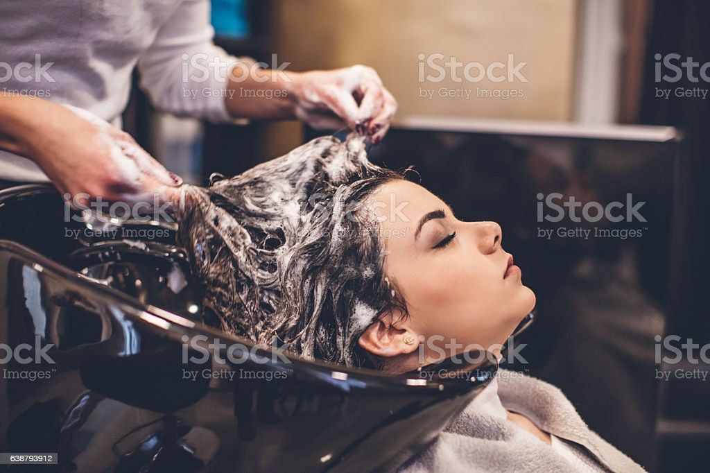 Confortable situation in hairdresser studio... – Foto