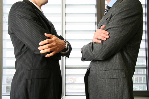 Confrontation Of Two Businessman Stock Photo - Download Image Now