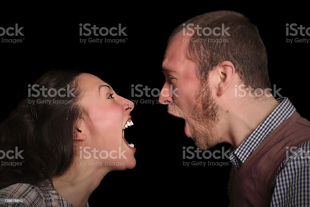 confrontation stock photo
