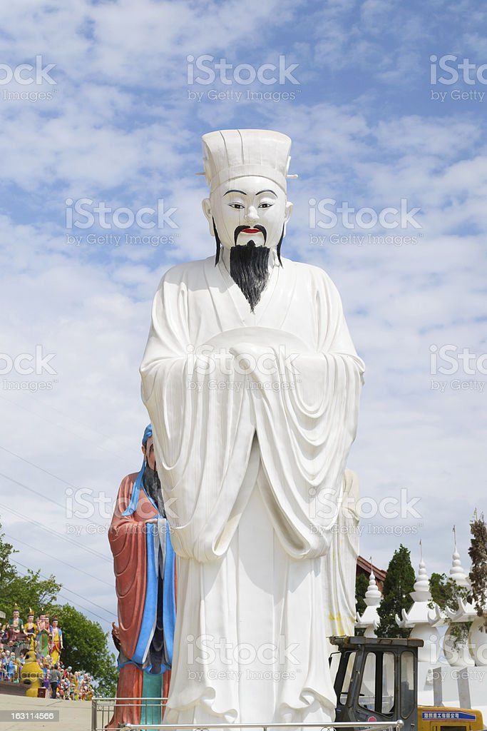 confucius sculpture royalty-free stock photo