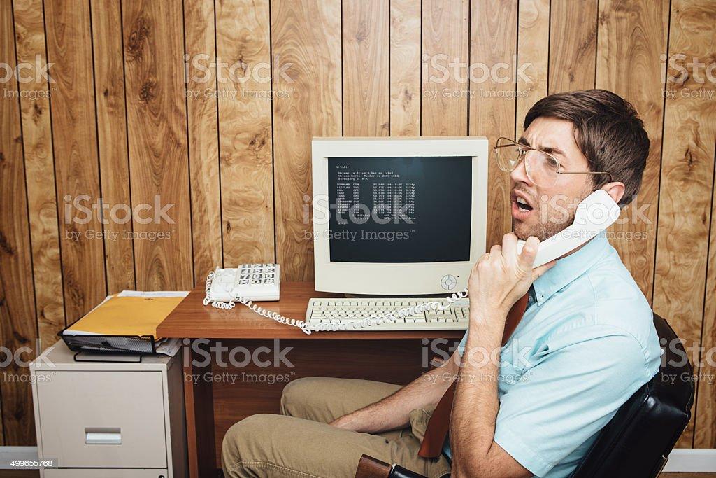 Verwirrt und gelangweilt Büroberuf – Foto