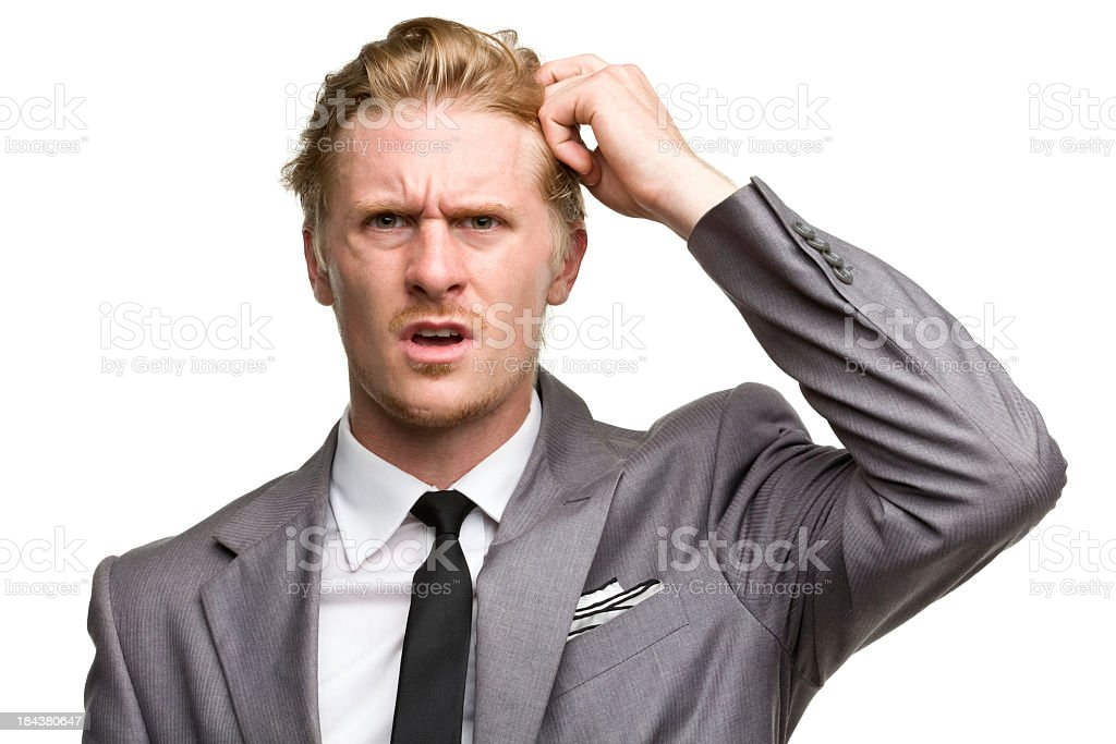 Confused and frustrated business man royalty-free stock photo
