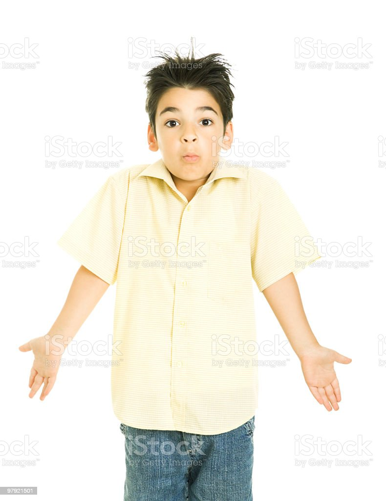 confused boy royalty-free stock photo