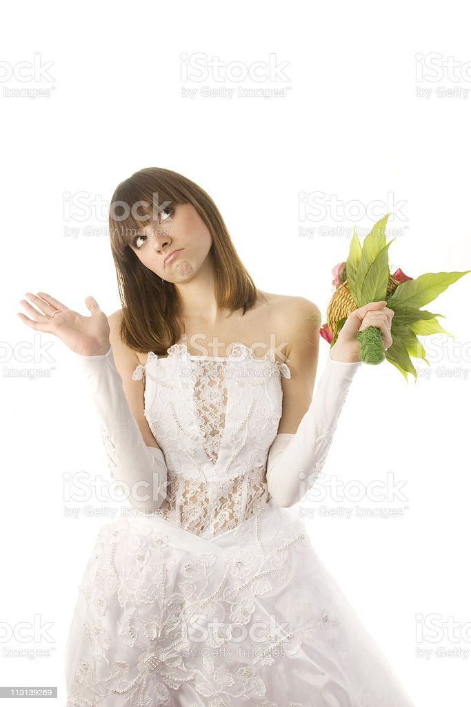 Confused bride. royalty-free stock photo