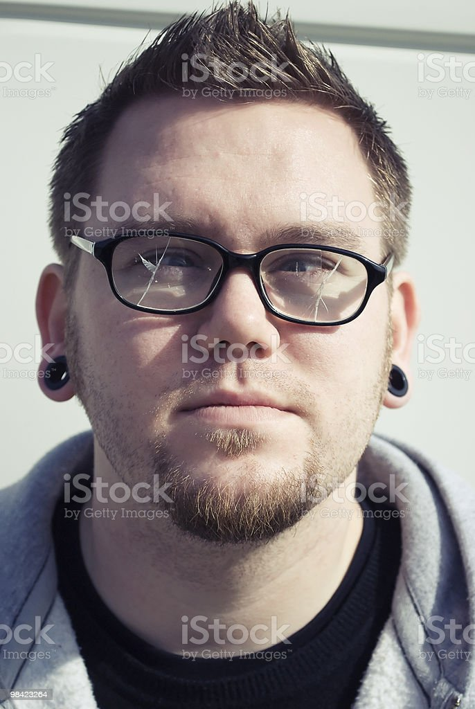 Confused Broken Glasses royalty-free stock photo
