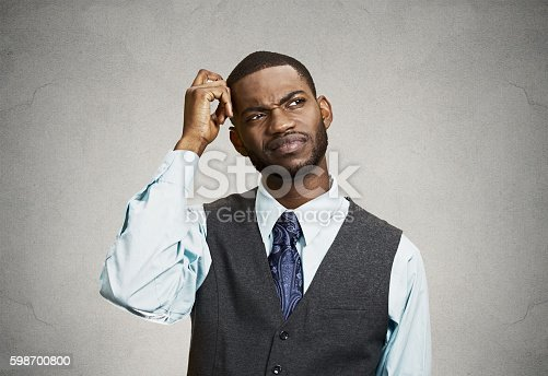 istock Confused business man, short term memory loss 598700800