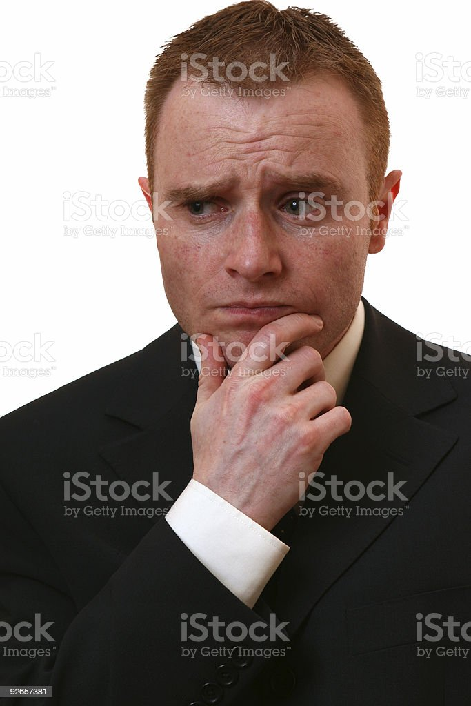 Confused businessman royalty-free stock photo