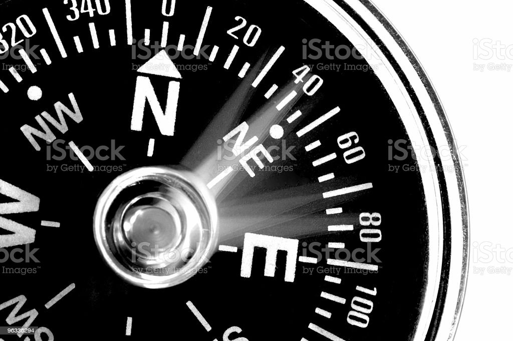 Confused Compass royalty-free stock photo