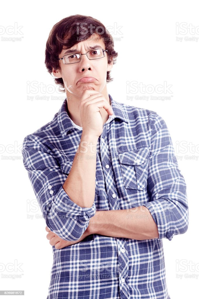 Confused guy stock photo