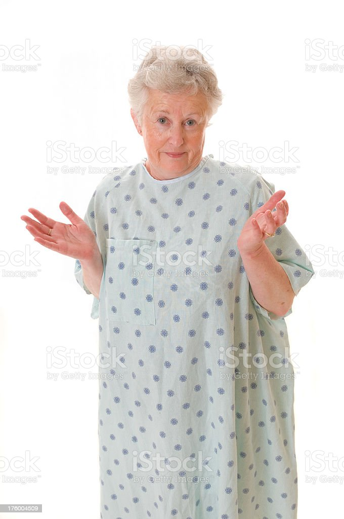 Confused Hospital Patient stock photo