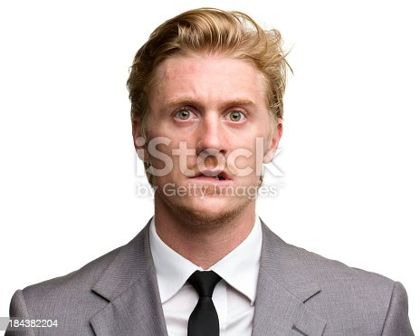 istock Confused middle aged male portrait 184382204