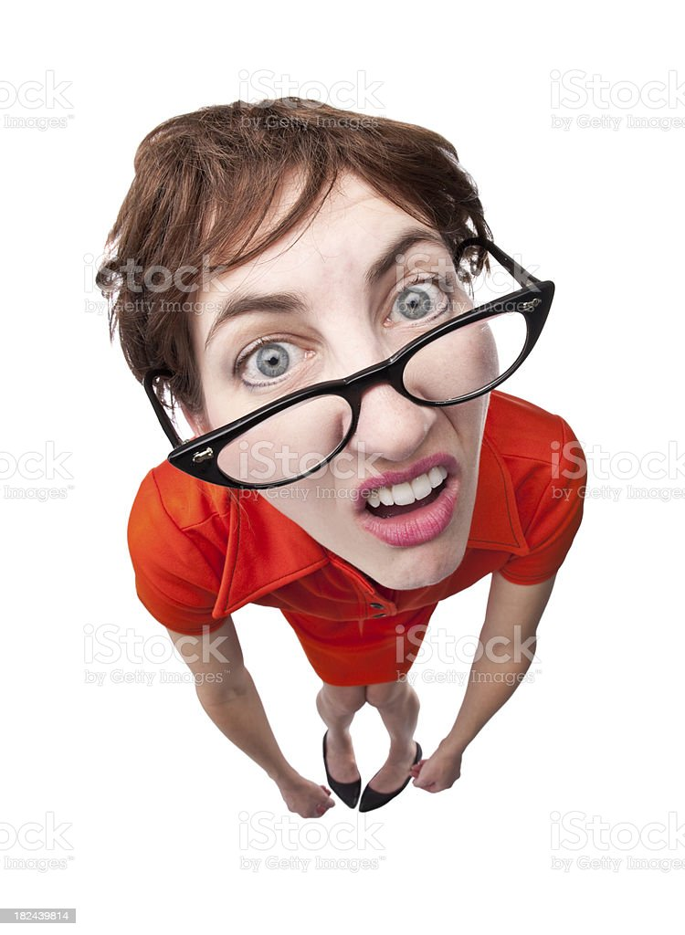 Confused Nerd royalty-free stock photo