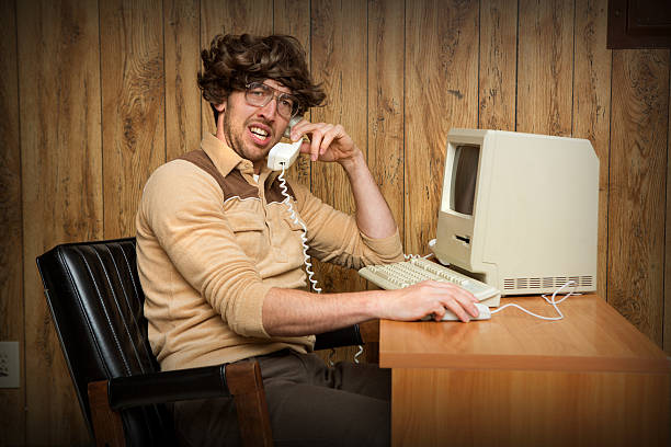 Confused Nerdy Computer Man – Foto