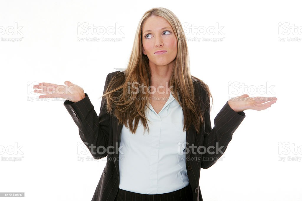 Confused? royalty-free stock photo
