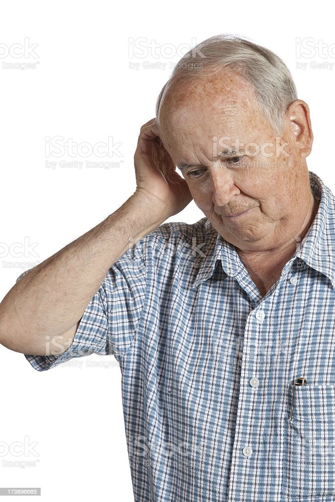 Confused Senior Citizen royalty-free stock photo