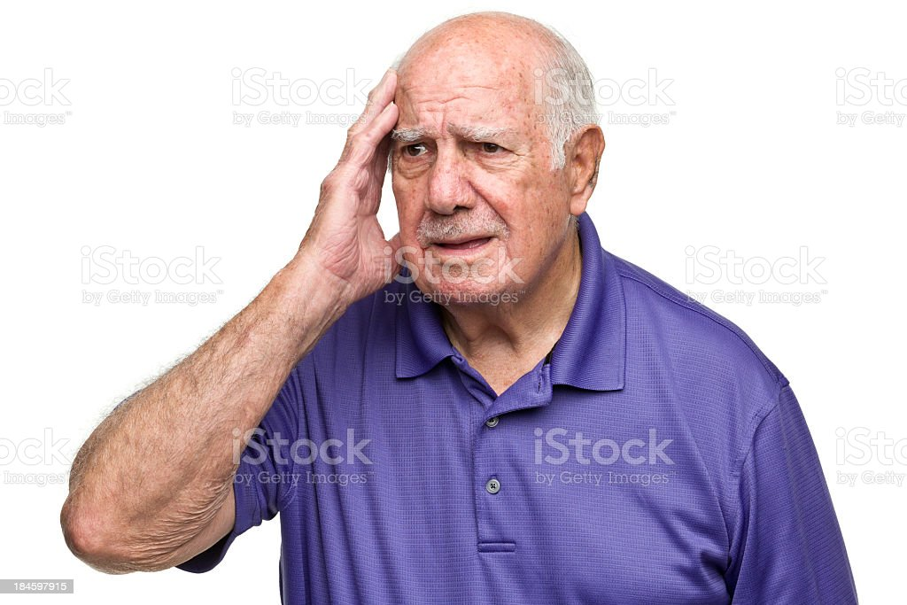 Confused Senior Man royalty-free stock photo